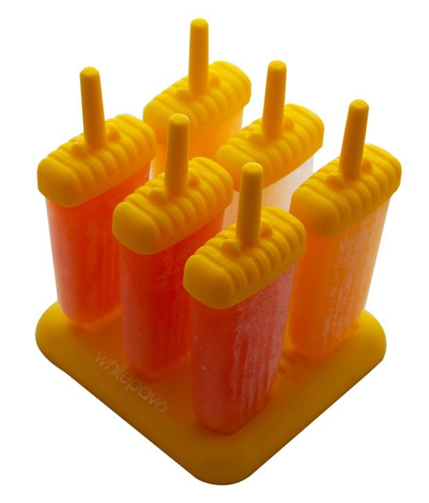 WhitePavo WhitePavo 6 Pcs Yellow Polypropylene Ice Popsicle Mold