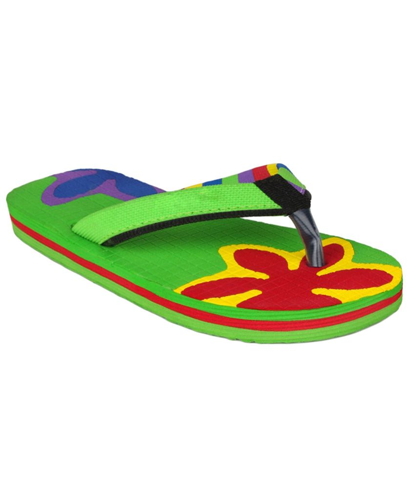 e5c2f0b2f 11e Green Flip Flops Price in India- Buy 11e Green Flip Flops Online at  Snapdeal