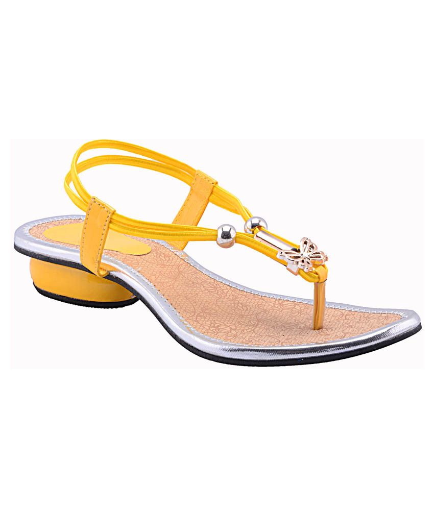 Fabme Yellow Sandals