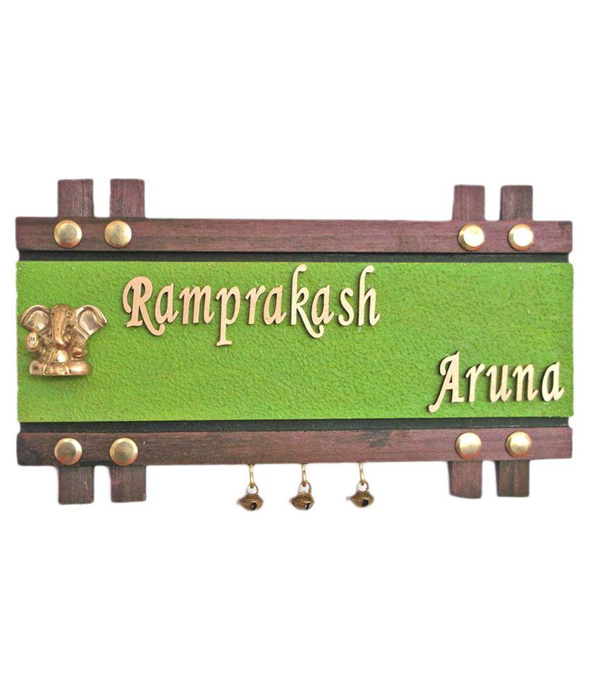 Handworkz Wood Name Plate Rectangular Decorative Plate