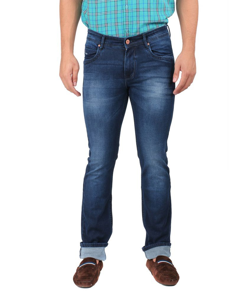 9f3fad7e7 Oxemberg Blue Slim Fit Jeans - Buy Oxemberg Blue Slim Fit Jeans Online at  Best Prices in India on Snapdeal