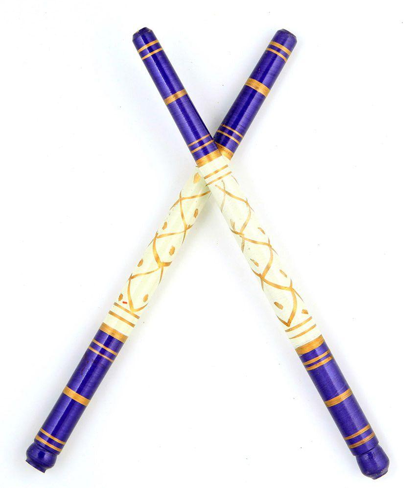 Sanjog Sankheda Wooden Dandiya Sticks Pack 2 1 Pair Buy