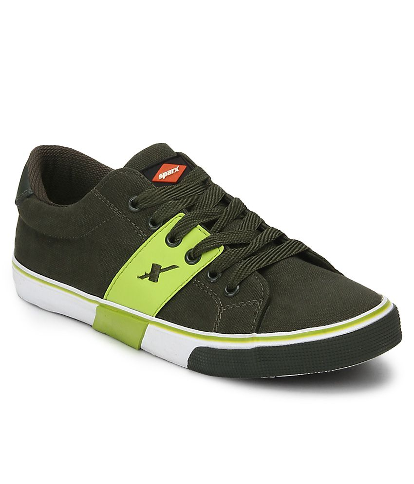 01fdf8406ac7 Sparx Green Canvas Shoes