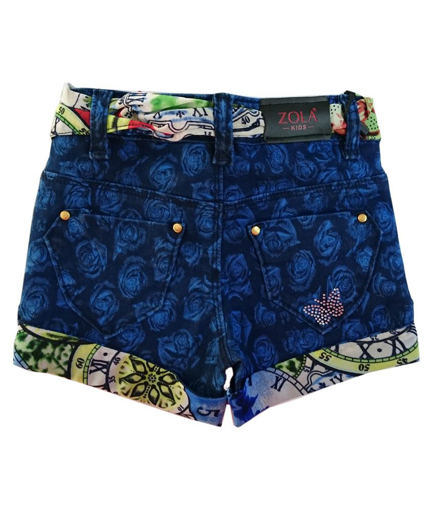 Zola Blue Shorts For Girls