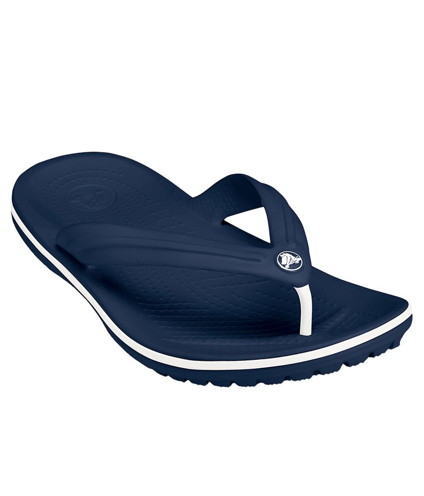 2a47d195c68e5 Crocs Relaxed Fit Crocband Navy Flip Flops Price in India- Buy Crocs  Relaxed Fit Crocband Navy Flip Flops Online at Snapdeal