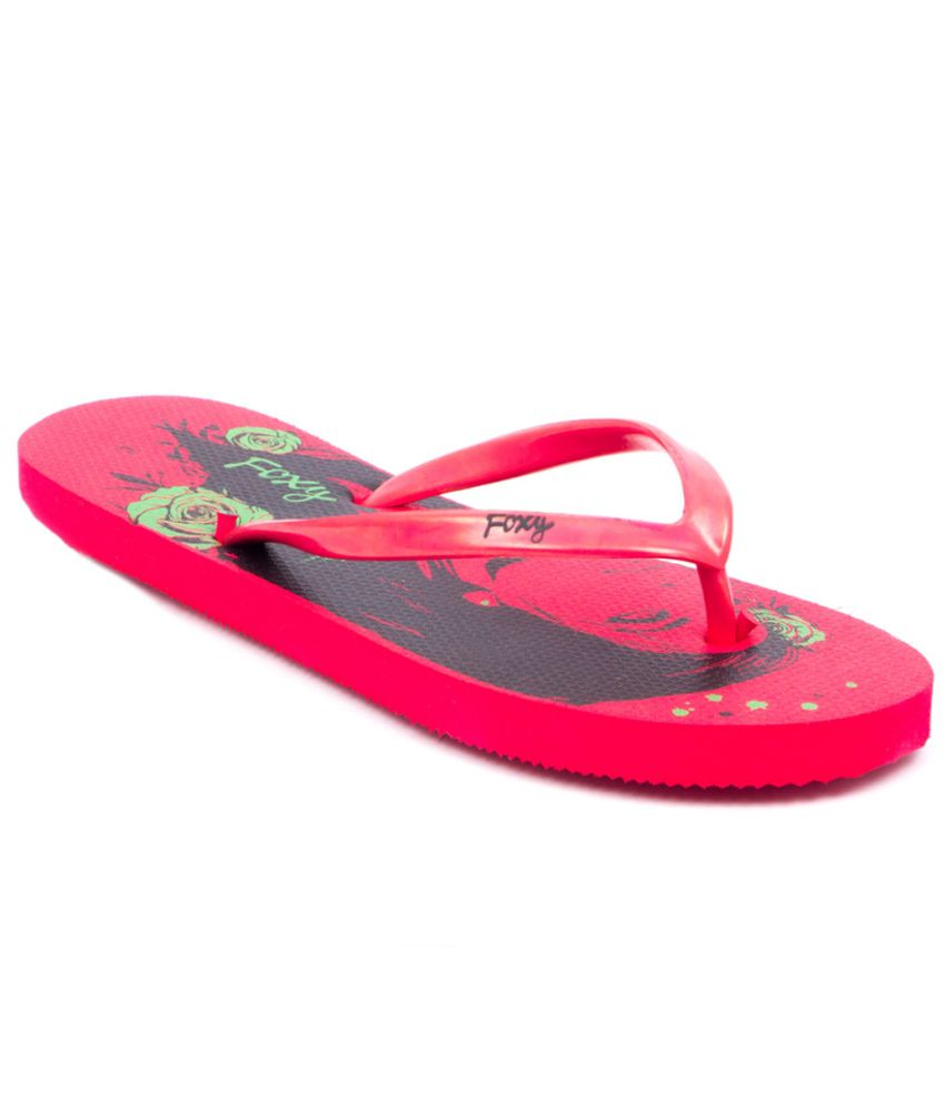 Fizik Fashionable Red Flip Flops  available at snapdeal for Rs.99