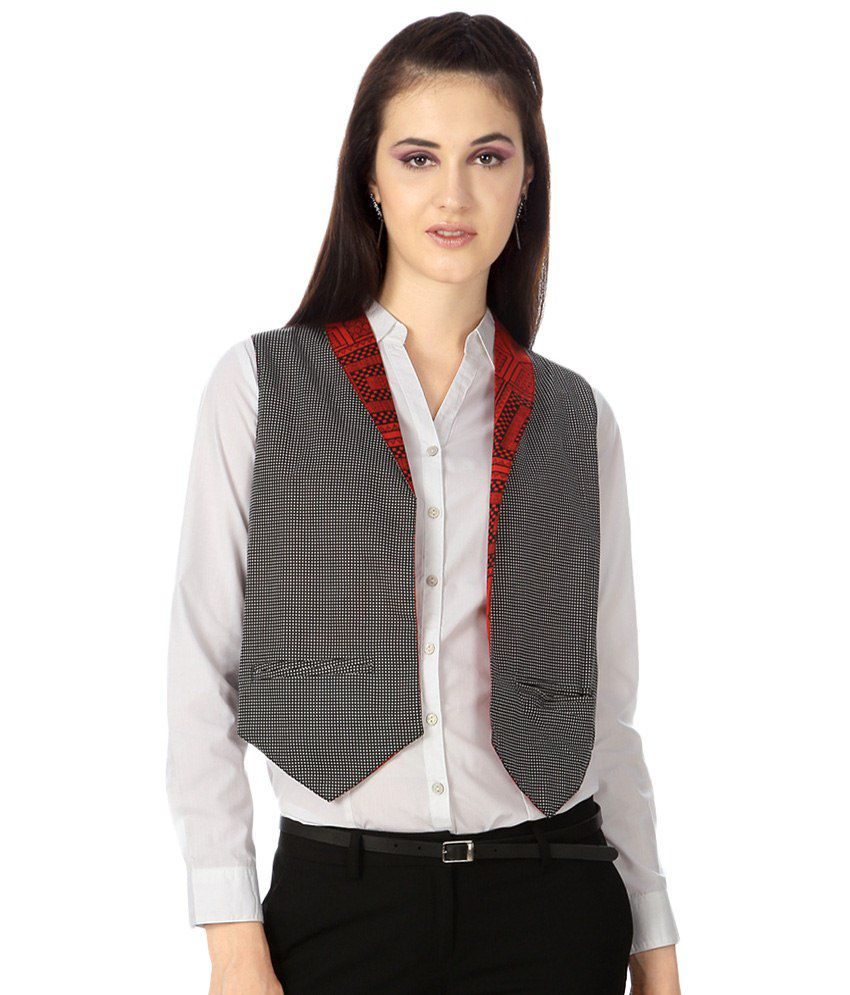 a7ac38d8e Buy Akkriti by Pantaloons Gray Waistcoat for Women Online at Best Prices in  India - Snapdeal