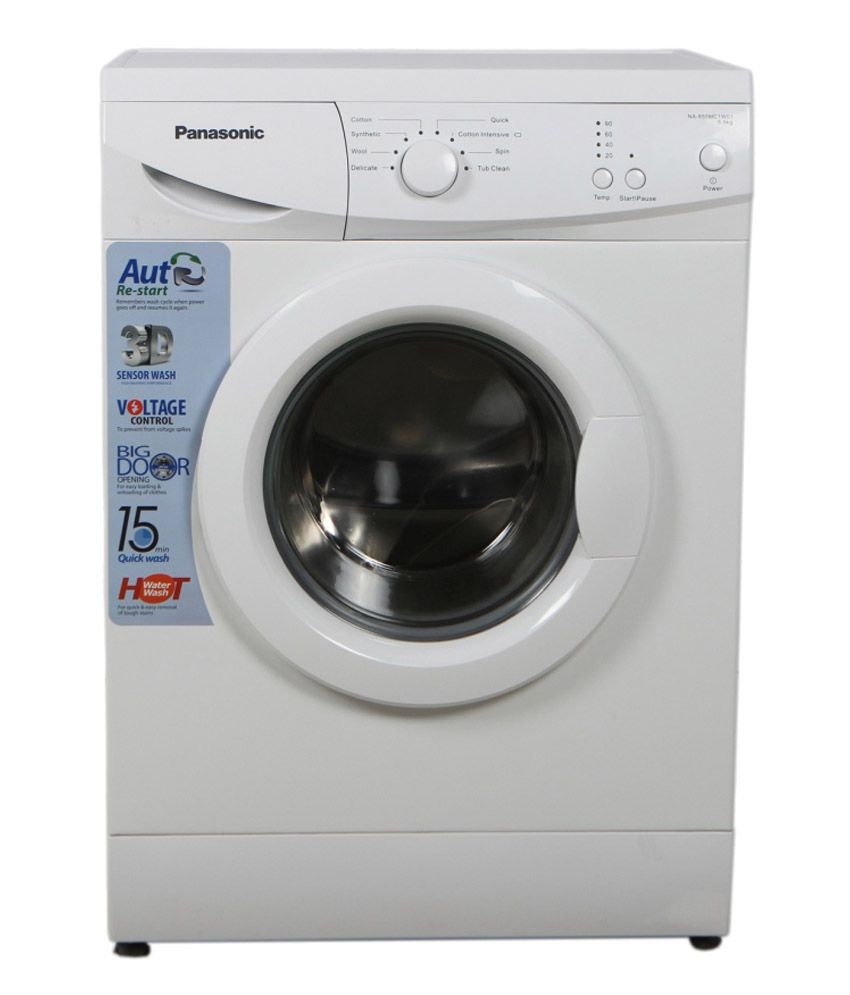 Panasonic 5.5 Kg NA 106 MC1 W01 Fully Automatic Front Load Washing Machine White