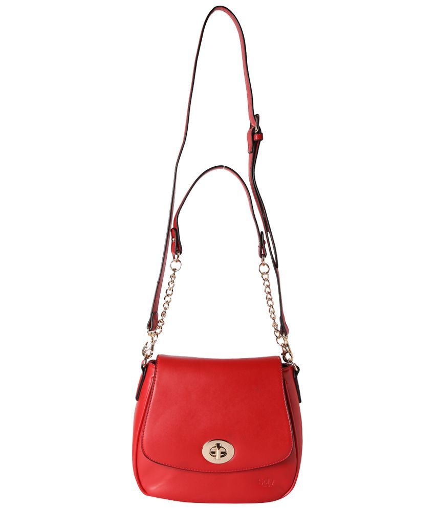 d5ad6e5e5017 Allen Solly Red Casual Sling Bag - Buy Allen Solly Red Casual Sling ...