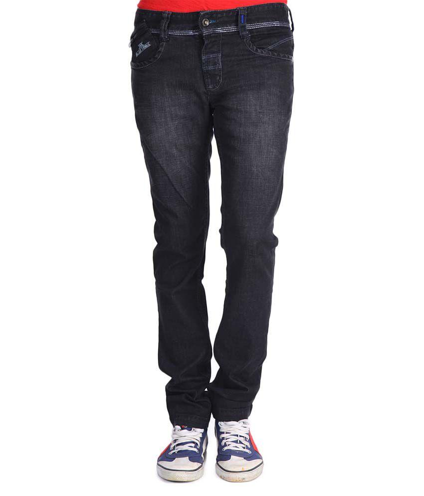 Blacksoul Black Cotton Slim Fit Jeans