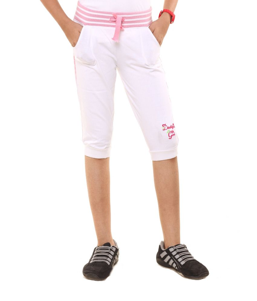 Menthol White Cotton Shorts