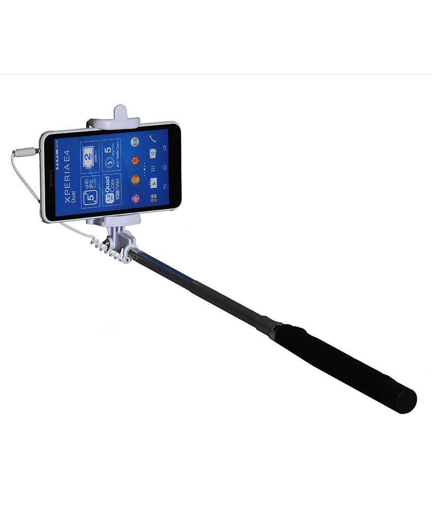 techfish selfie stick with aux cable price in india buy techfish selfie stic. Black Bedroom Furniture Sets. Home Design Ideas