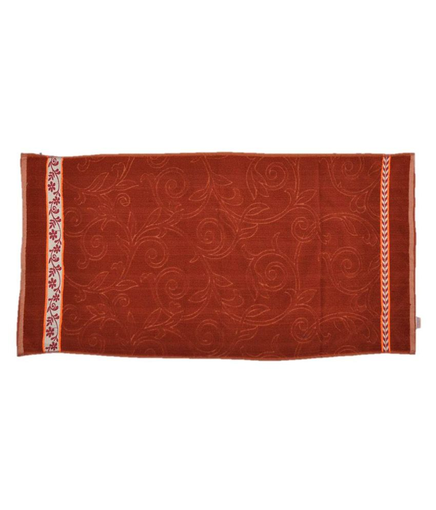 Red Towels Bathroom: Towel Wala Red Cotton Bath Towel