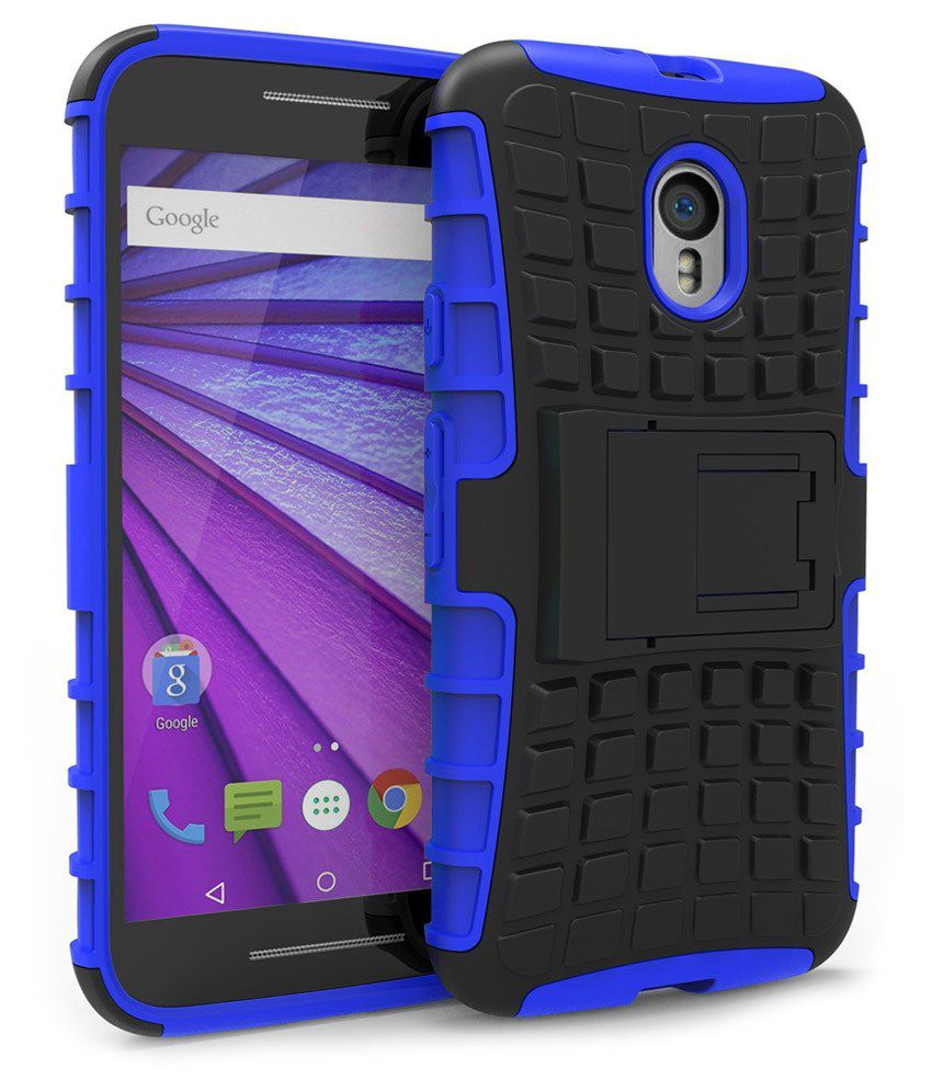 new concept 1859d eb2e9 Noise Back Cover With Stand For Motorola Moto G3 ,Moto G Turbo Edition -  Blue