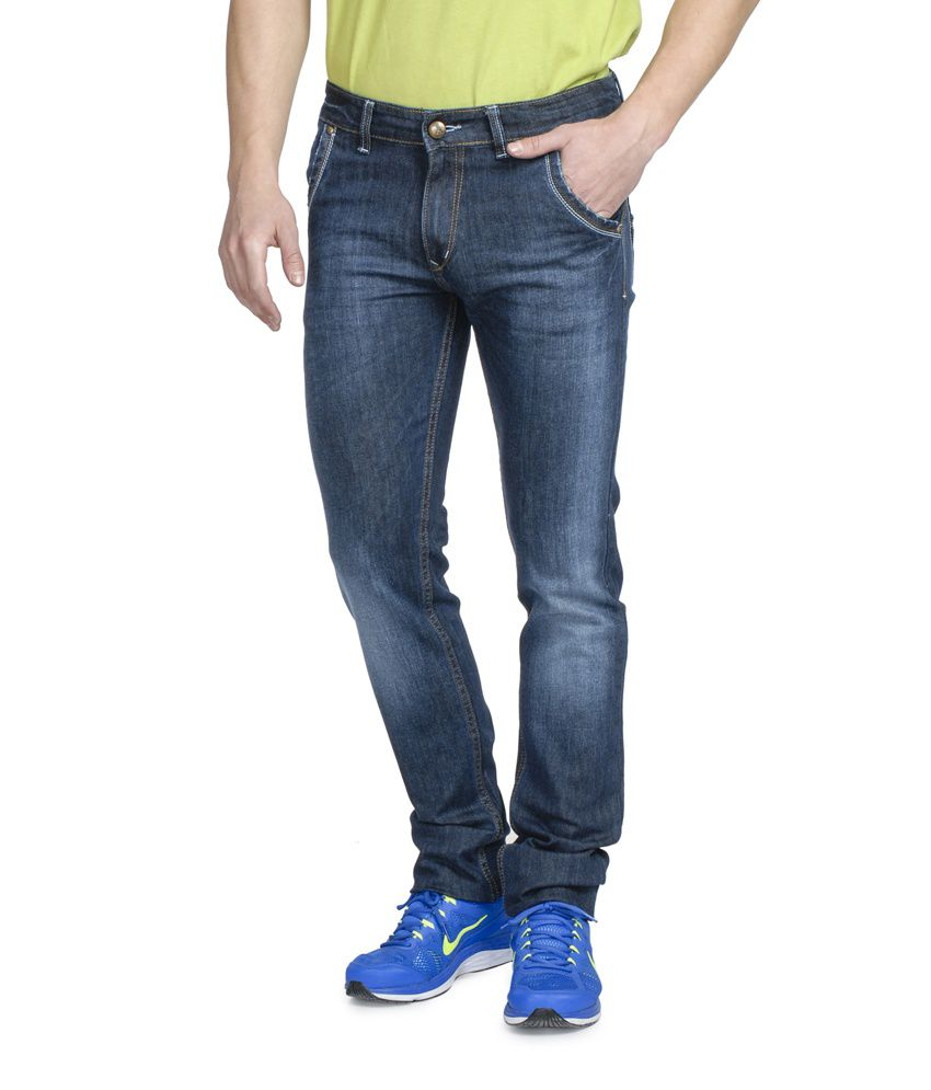 Ruace Blue Slim Fit Jeans