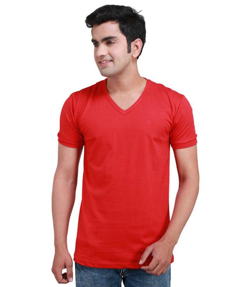 Boson Red Cotton Tshirt