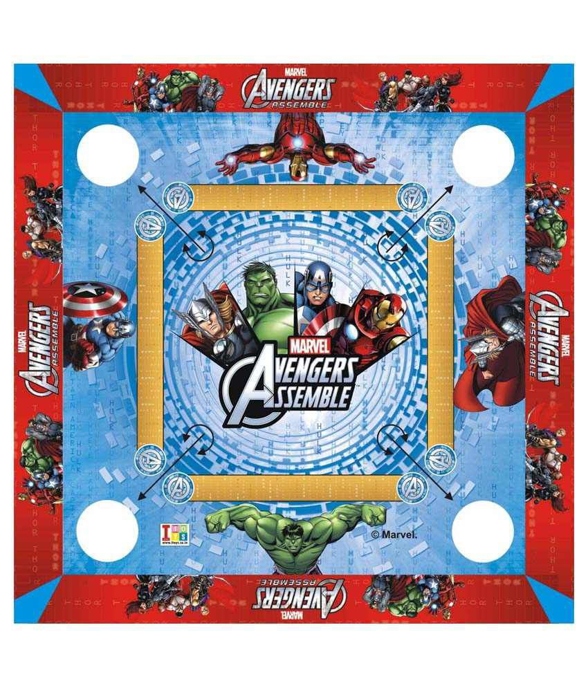 Disney Marvel Avengers Carrom Board And Board Game - Multicolour