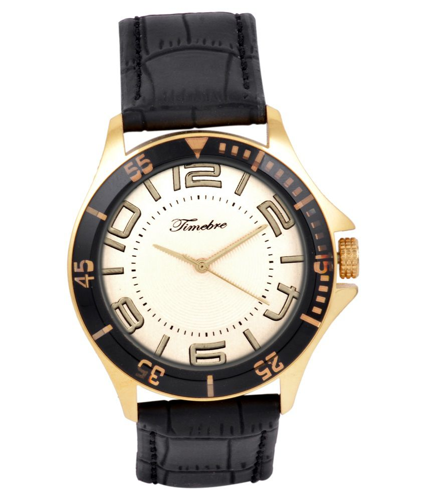 Timebre Men's Black Casual Watch