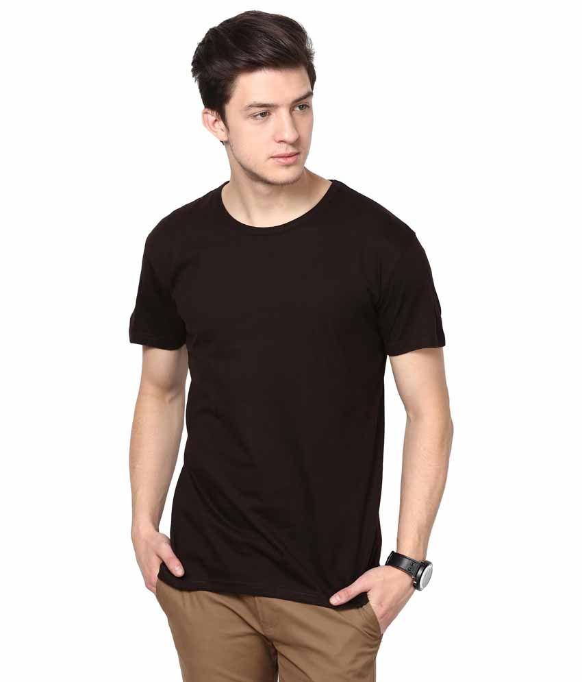 INKOVY Brown Cotton T-shirt