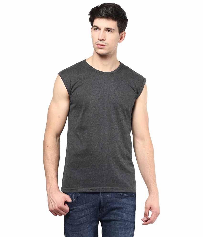 IZINC Grey Cotton T-shirt