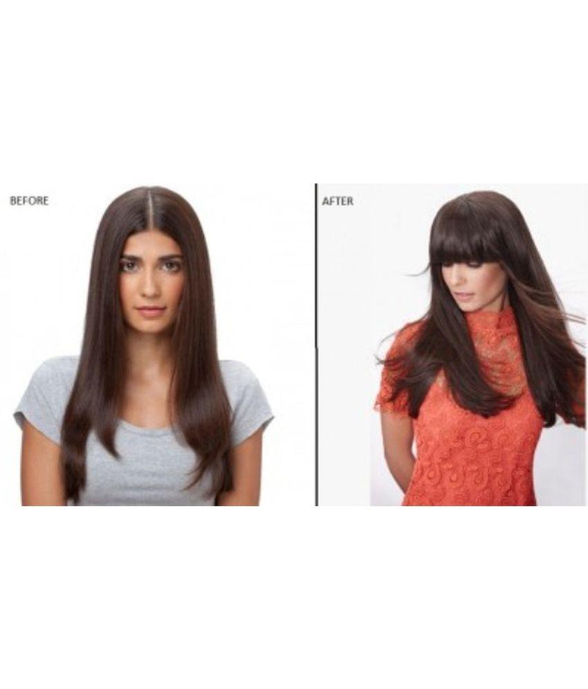 Majik Straight Clip On Hair Fringe Hair Bang Hair Extension 70 Gm