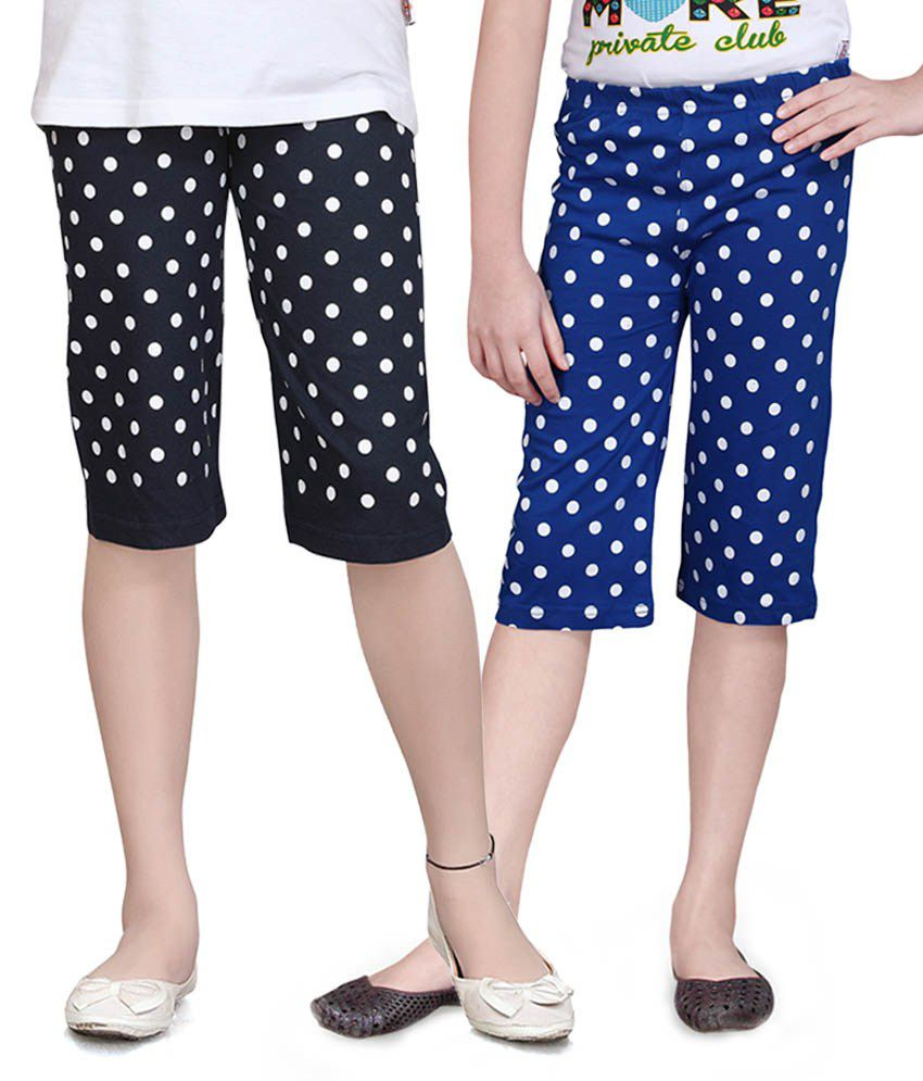 Sinimini Blue Capris - Pack Of 2
