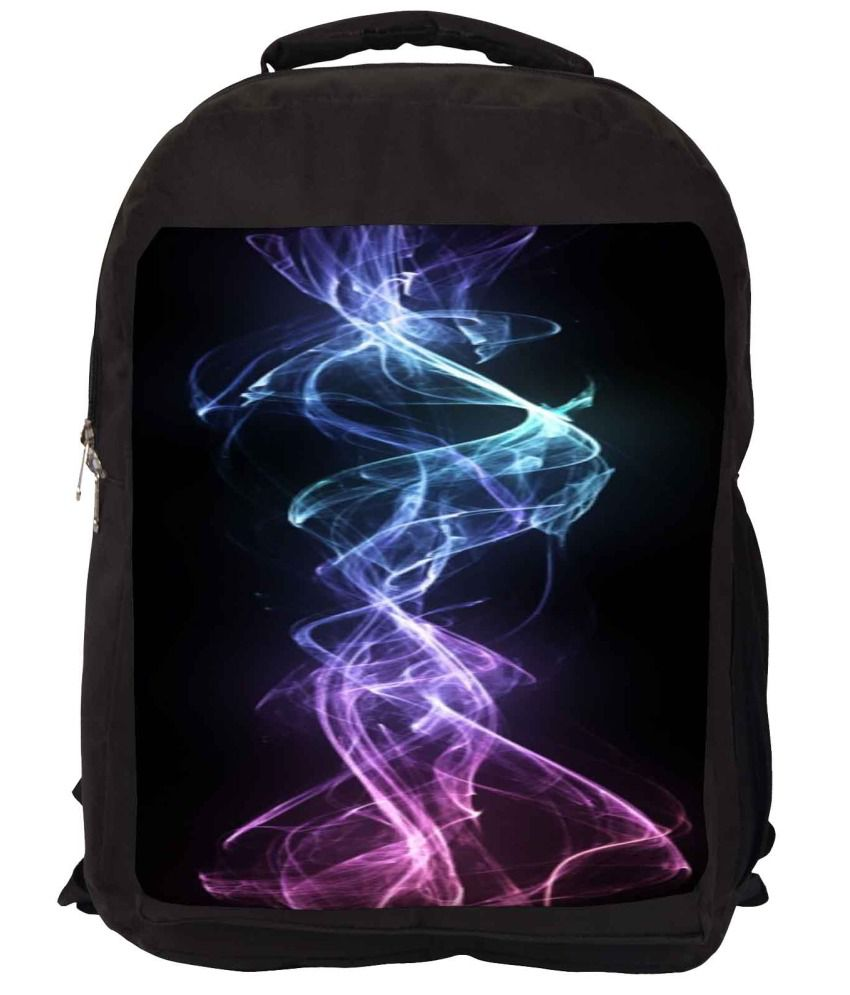 Snoogg Blue and Black Nylon Laptop Backpack