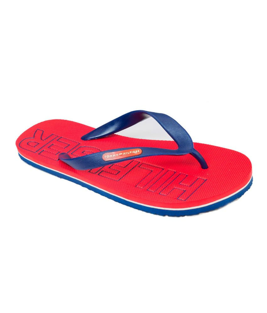 5f870d98480e Tommy Hilfiger Red Slippers Price in India- Buy Tommy Hilfiger Red Slippers  Online at Snapdeal