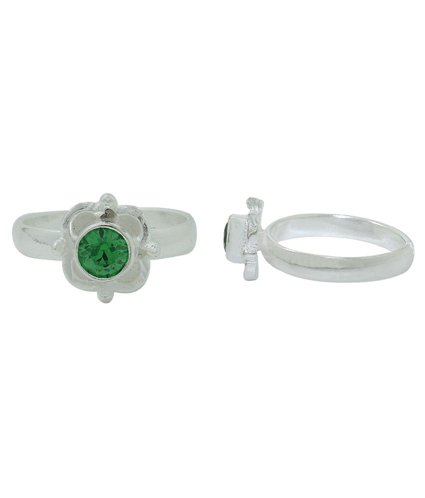 Frabjous Green Designer Toe-ring