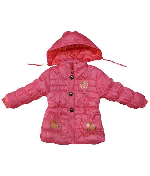 Fusion Pink Georgette Quilted & Bomber