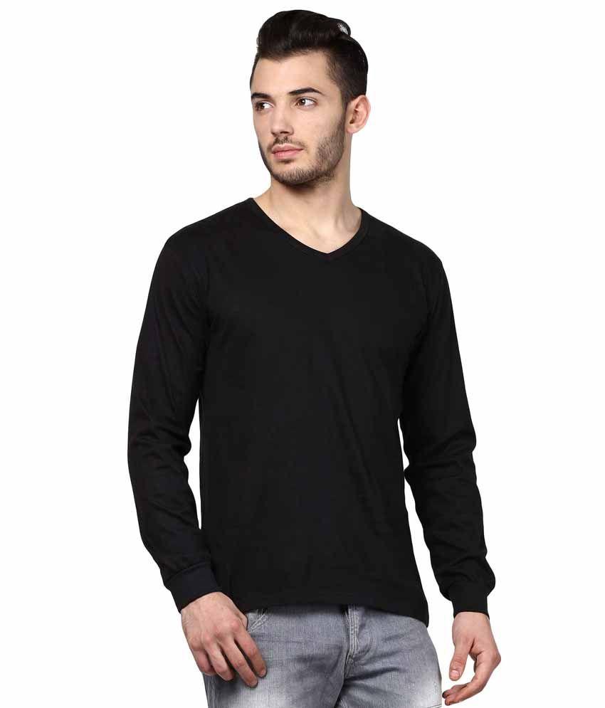 INKOVY Black Cotton T-shirt