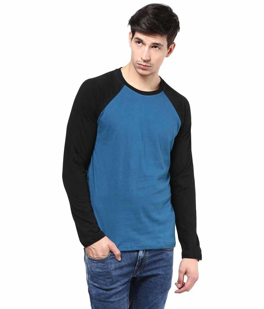 IZINC Blue Cotton T-shirt