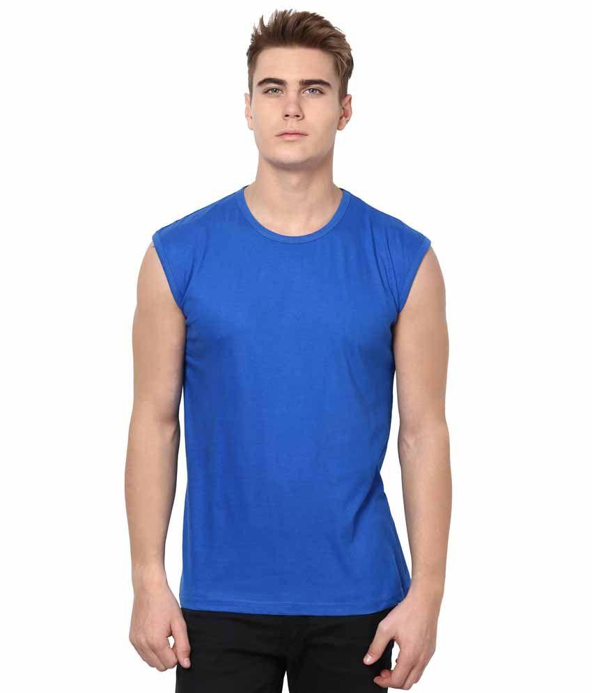 IZINC Blue Cotton T-shirt