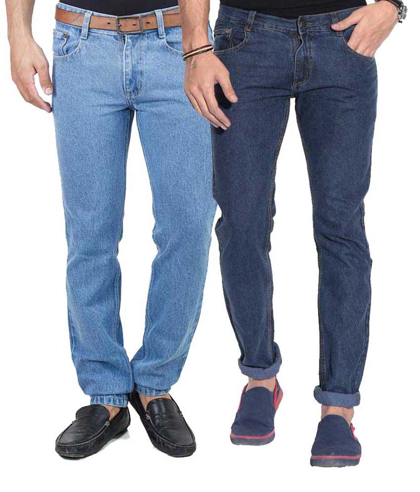 Vape Blue Regular Fit Jeans - Set Of 2