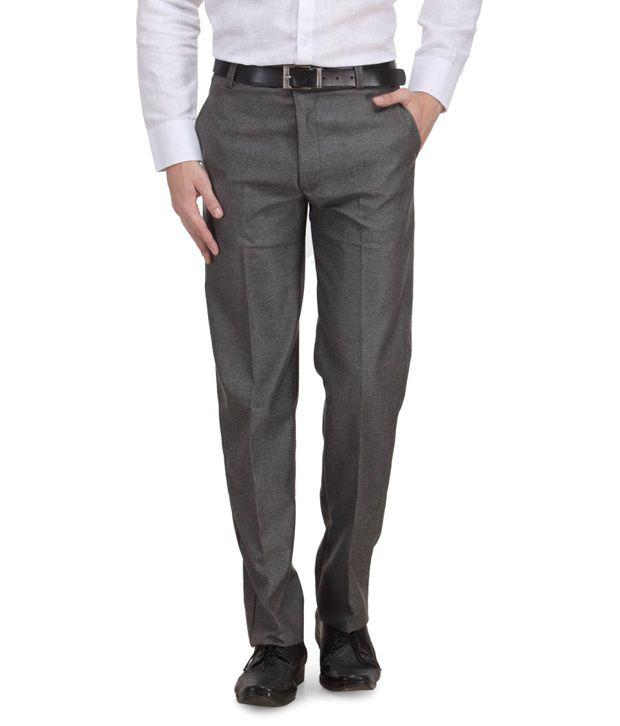 Ad & Av Grey Formal Trouser (Tailored Comfert)