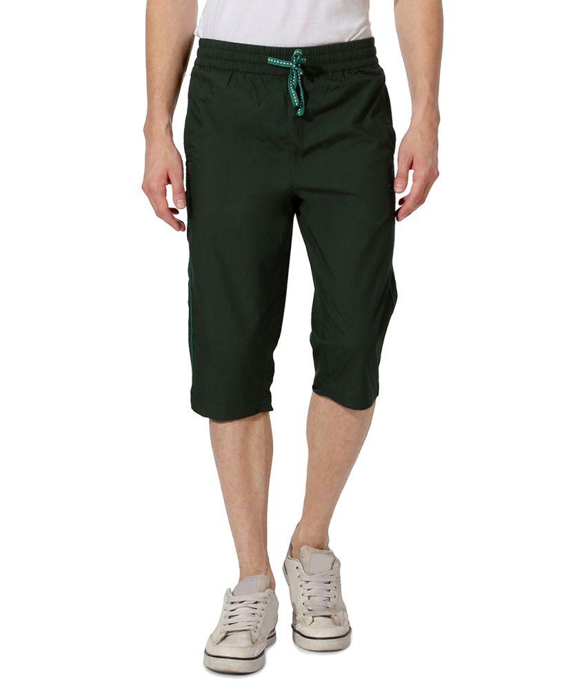 Ajile by Pantaloons Green Casual Activewear Crop Sweatpants