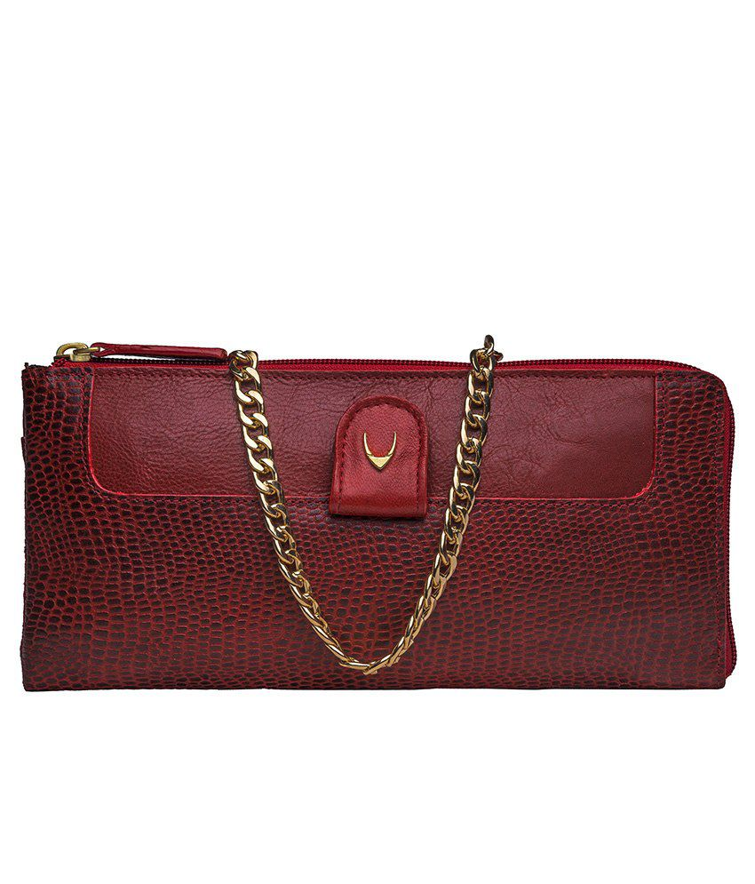 Hidesign Dolce W2 Red Clutch