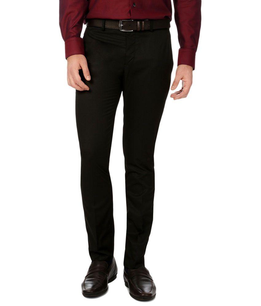 Van Heusen Black Formal Trousers