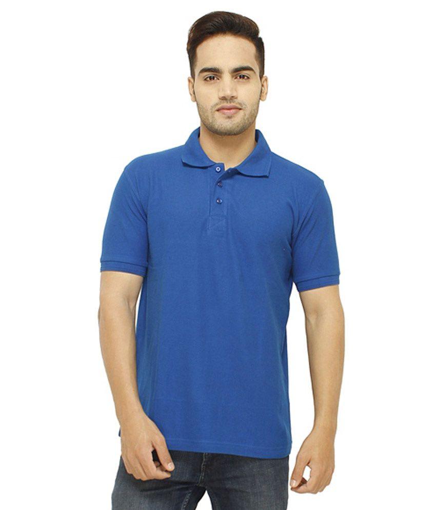 Zc Blue Cotton Blend T-shirt