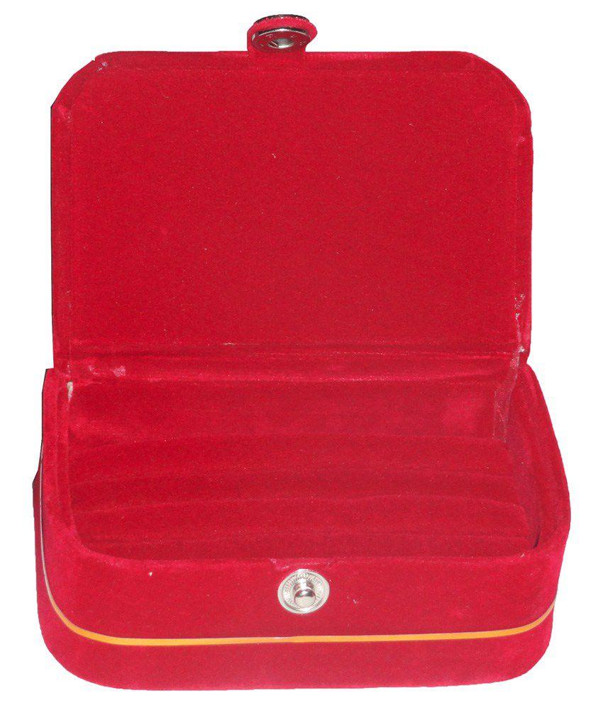 Atorakushon Ring Box Velvet Coated Jewelry Box