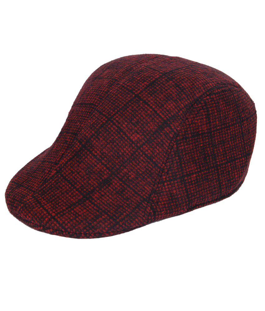 Jorss Red Polyester Winter Golf Cap