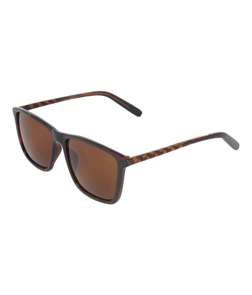 Omnesta Brown Rectangle Sunglass