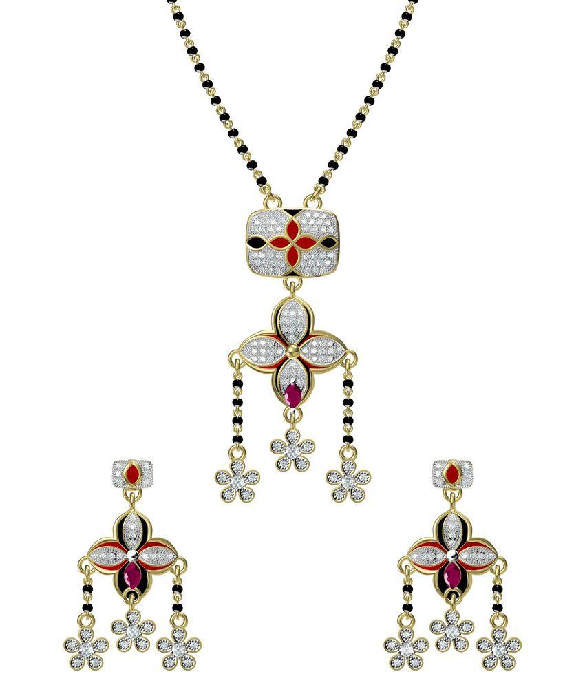 Ooh Chhori Fashion Multicolor Alloy Gold Plated Manglasutra Set