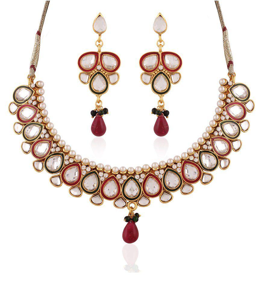 Vivanta Multicolor Led Free Alloy Necklace Set