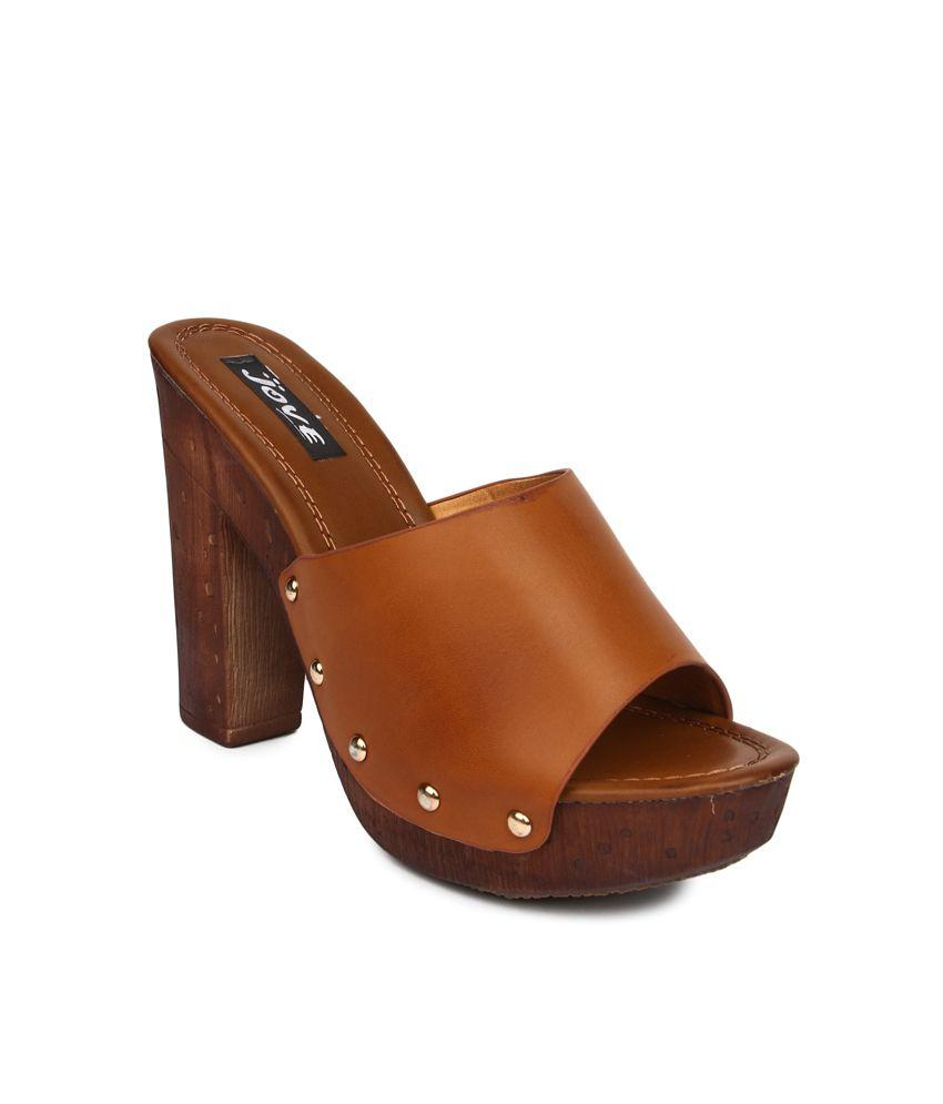 Jove Brown High Heel Pumps