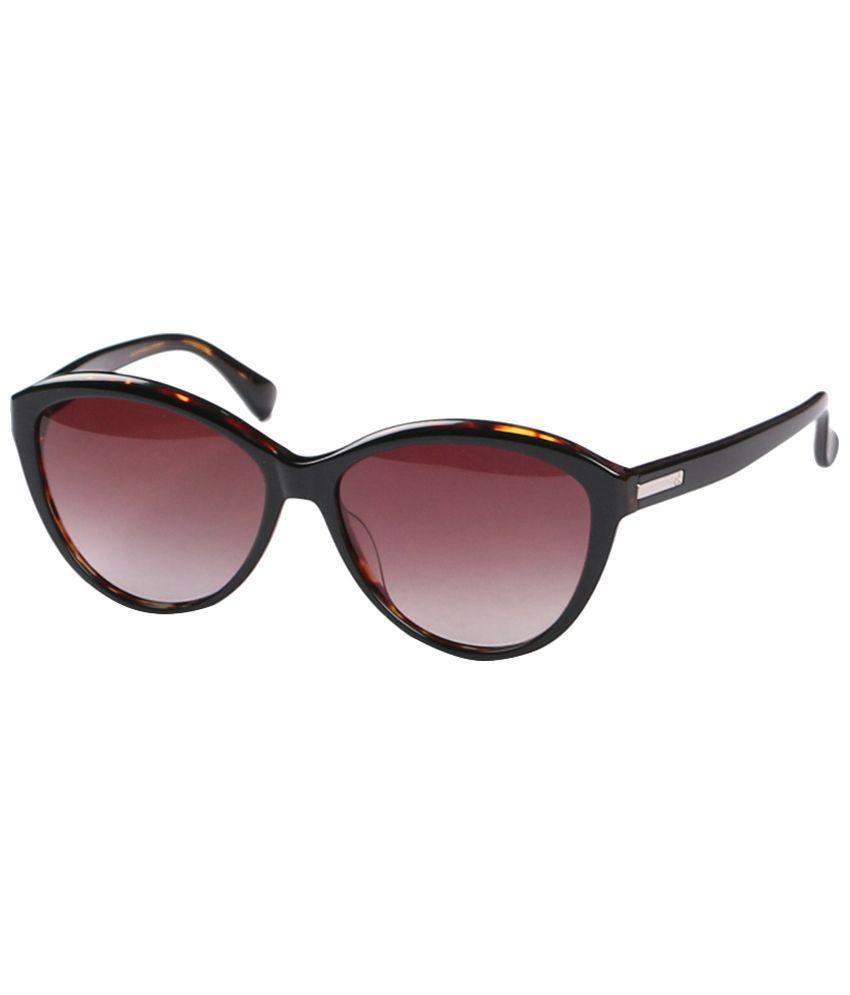Calvin Klein Brown Cat Eye Sunglasses for Women