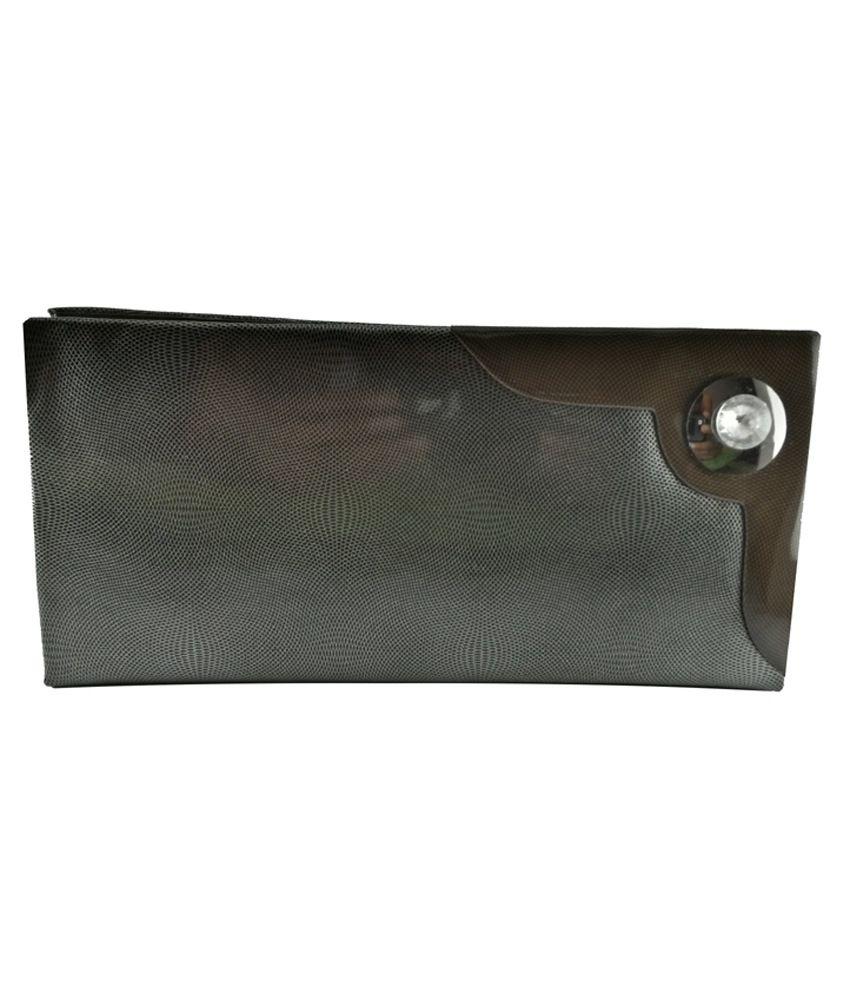 Fusion Non Leather Gray Zip Regular Wallet