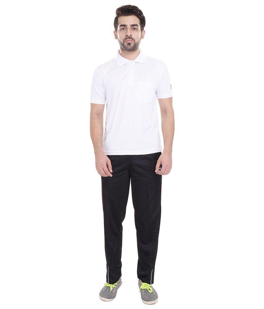 Shiv Naresh Black Polyester Trackpant