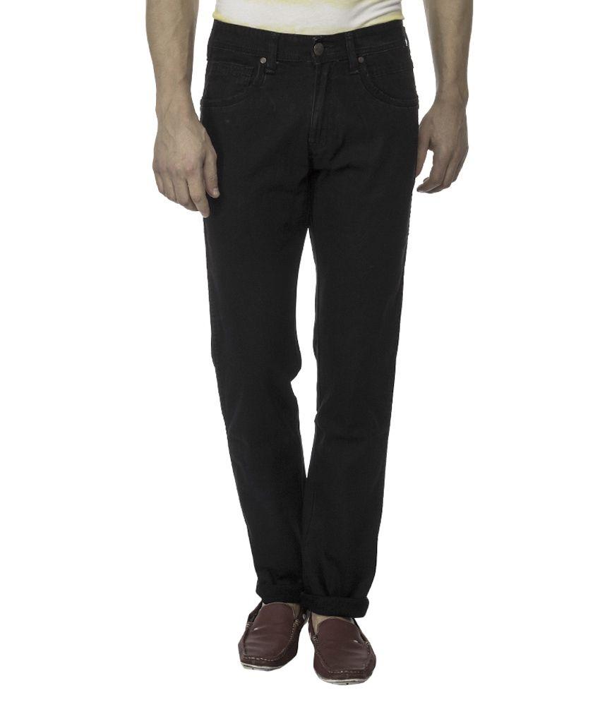 Wrangler Black Stretchable Slim Fit Jeans