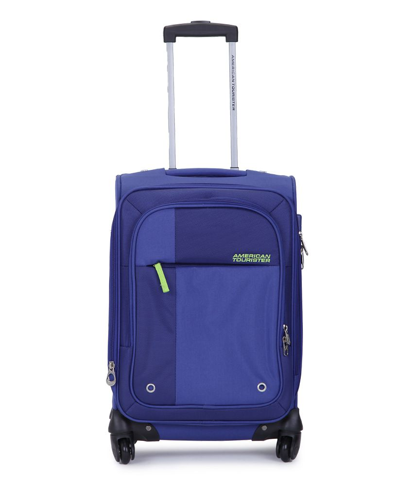 American Tourister Small (Below 60 Cm) 4 Wheel Soft Blue Hugo Luggage Trolley